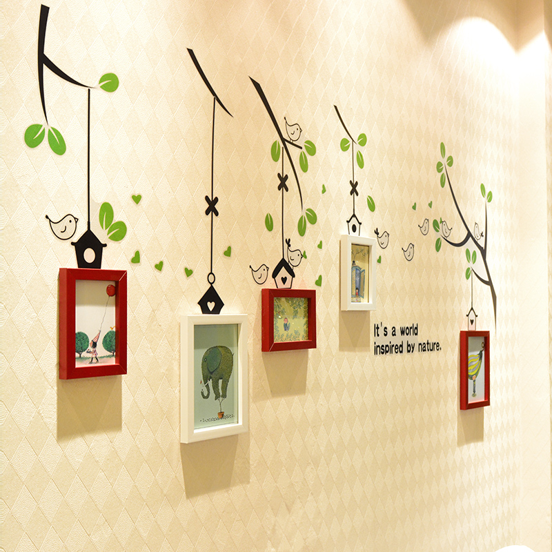 Small wall photo frame combination of creative baby photo frame wall stickers decorated children's bedroom wall photo wall photo wall