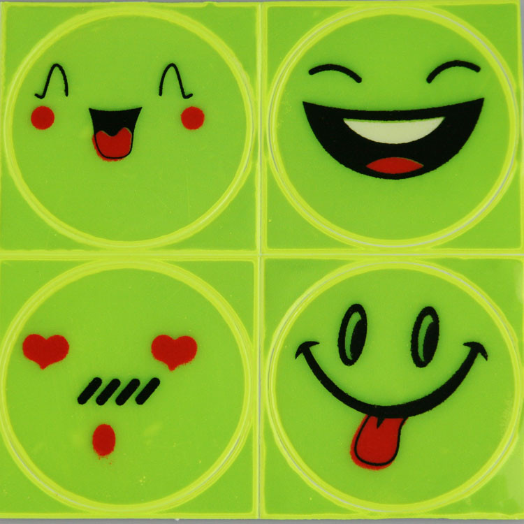 Smiley stickers round stickers reflective stickers dead fly bicycle bicycle accessories mountain bike wheel sticker