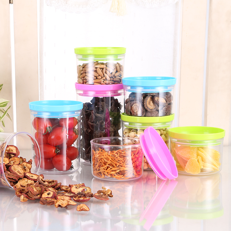 Snack food storage cans sealed cans kitchen plastic grains kitchen canister milk cans sealed storage box round