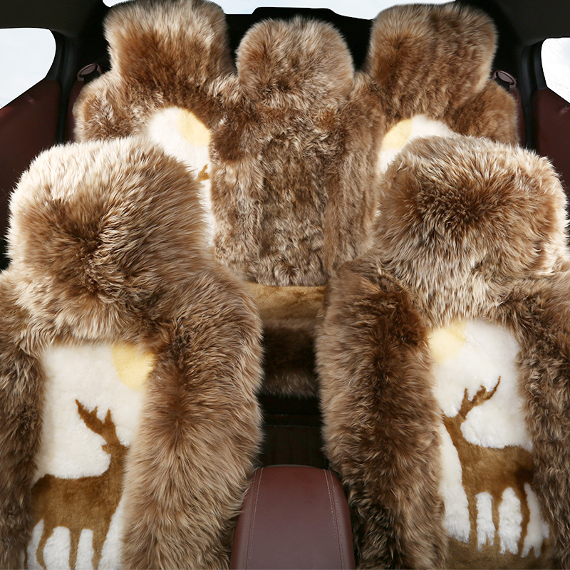 Snow language upscale authentic pure wool winter car seat new autumn and winter fashion wool cushion tianchang pulvinis