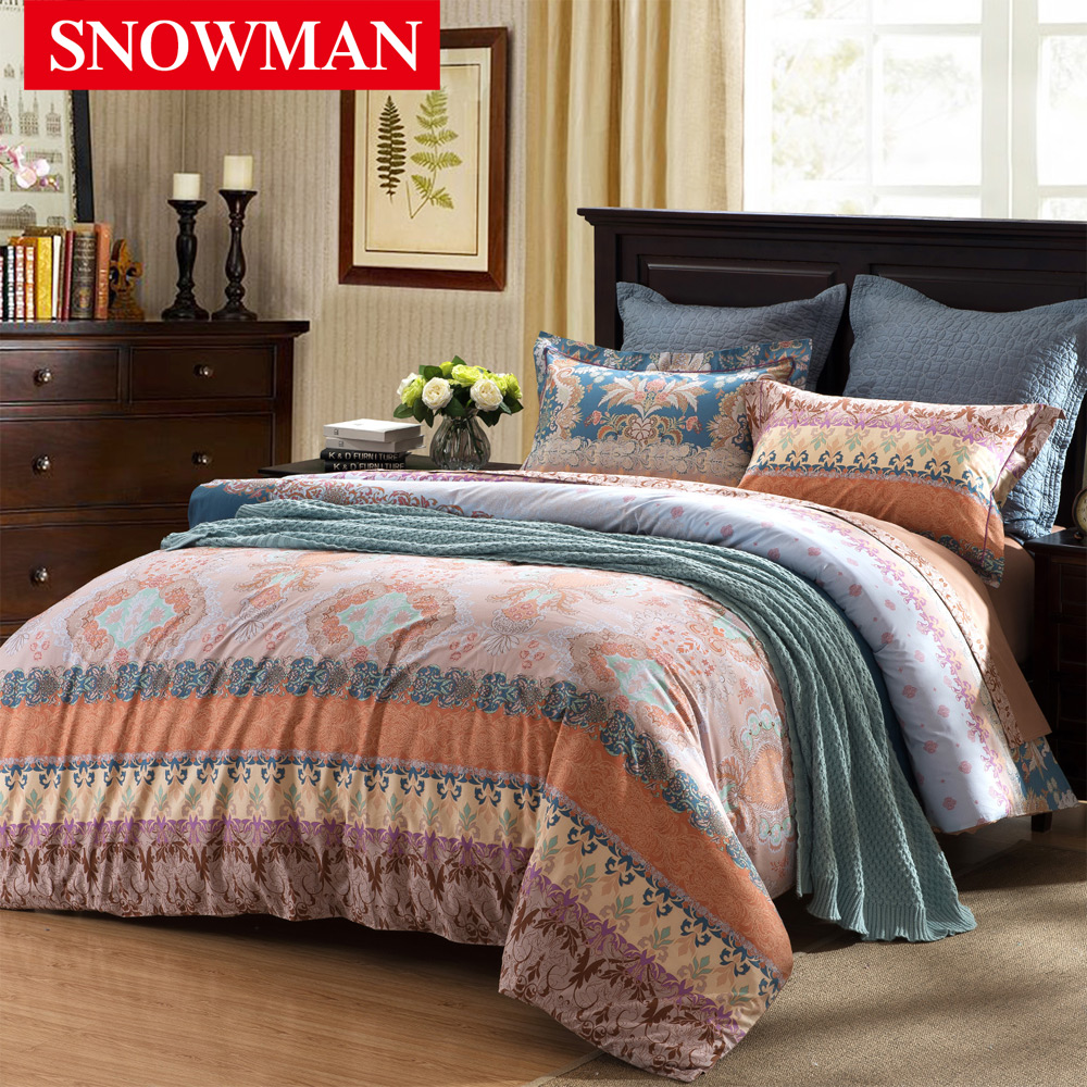 Snowman/adams norman cotton printing a family of four american bedding fashion nobility