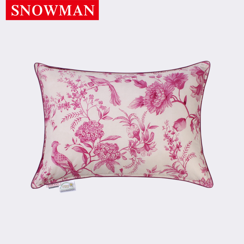 Snowman/adams norman cotton satin printed super soft feather velvet pillow lumbar pillow cushions afternoon