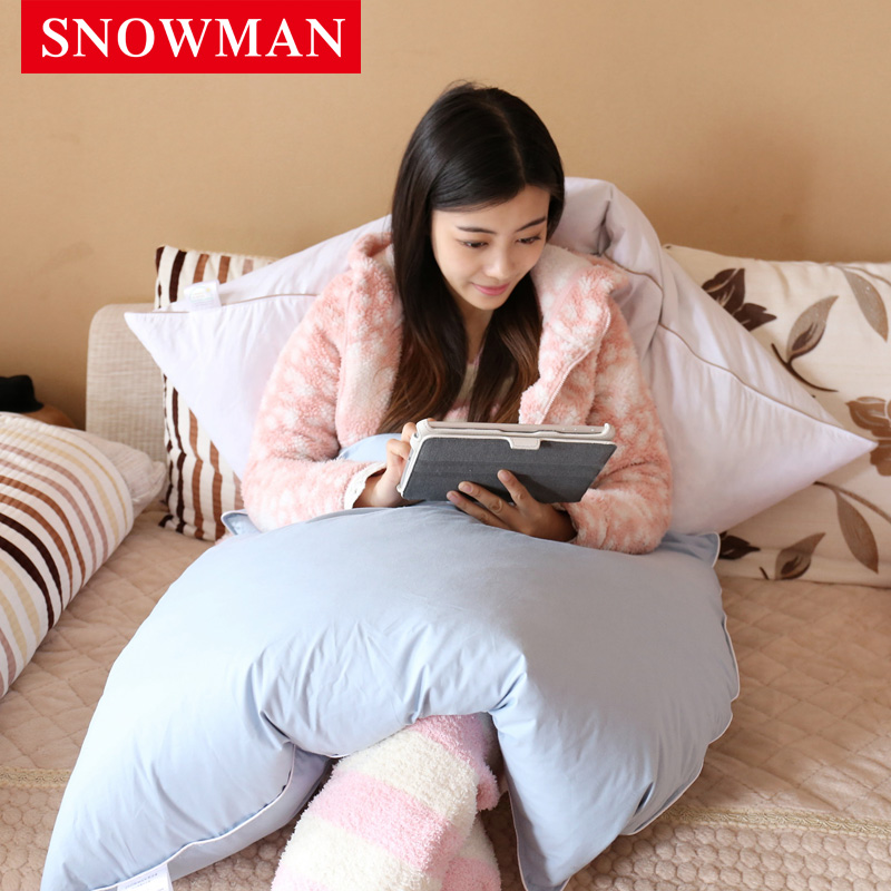 Snowman/adams norman warm feather been warmer pillow quilt dual home office small quilt