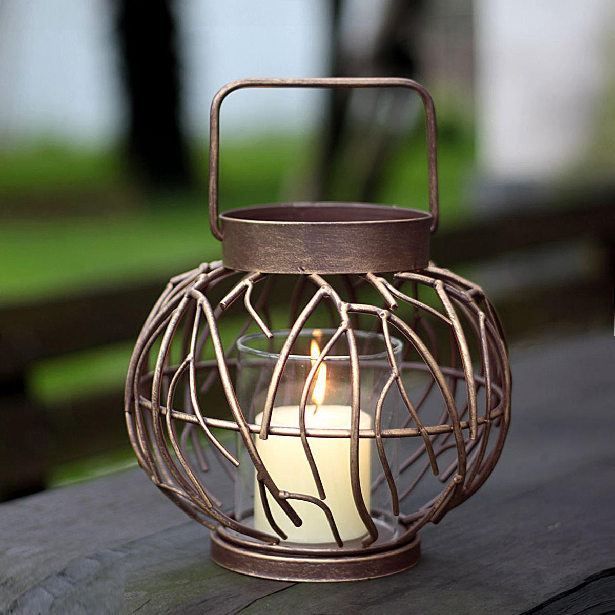 Get Quotations Soft Time European Clical Wrought Iron Candle Holders Lantern Abstract Brush Gold Home Furnishings
