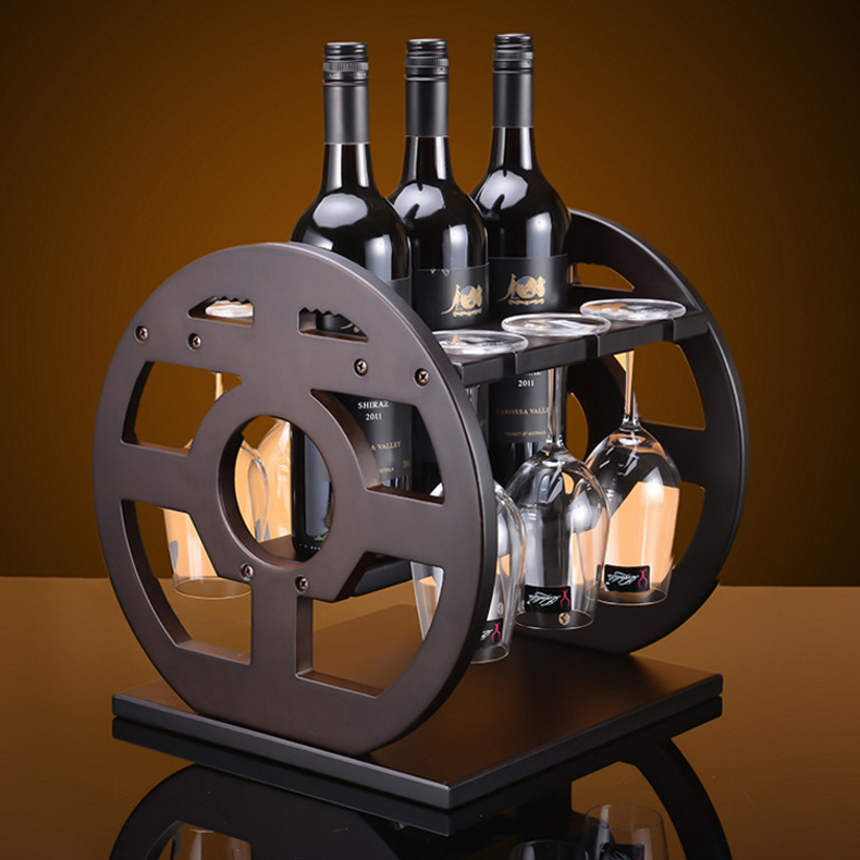 Solid wood hanaprene ornaments european wine rack wine rack bottle rack wine rack wine cup holder cup holder