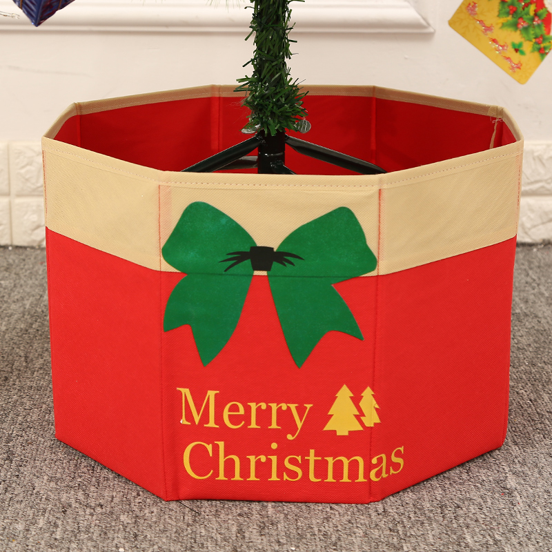 Sonam booties christmas tree decorated base storage box tree wovens christmas tree scene tree pots with bottom box