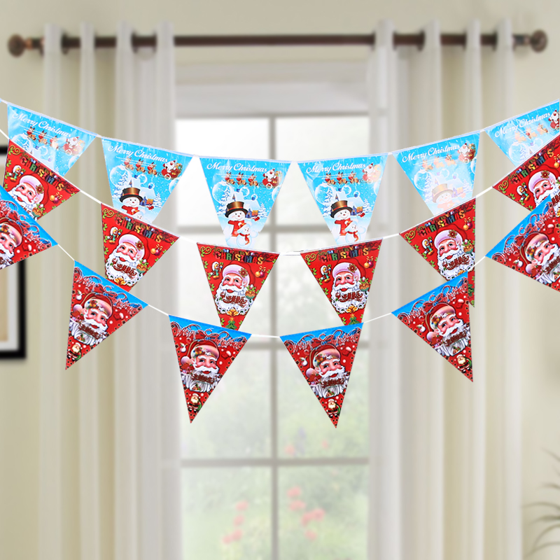 Sonam christmas merry christmas santa claus pull farrer flag bunting flags triangle night of the christmas garland