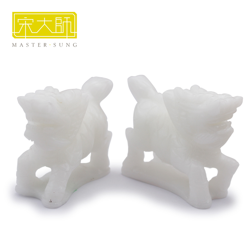 Song shaoguang song set tz delineators kirin auspicious gift enterprises perennial white marble stone ornaments ornaments gifts