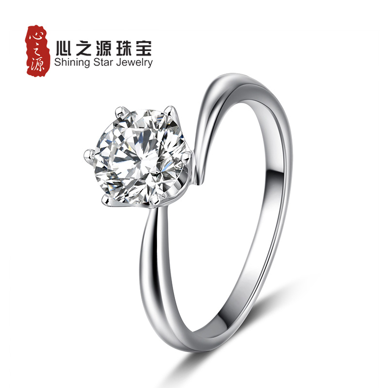 Source heart only love [life] 1 karat gold jewelry arm twisting guram pachkhatashvili classic six claw diamond ring wedding ring female