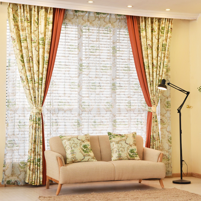 Get Quotations · South Court Velvet Curtains Finished Custom Printed Cotton  Stitching Curtains Modern Minimalist Living Room Bedroom Garden
