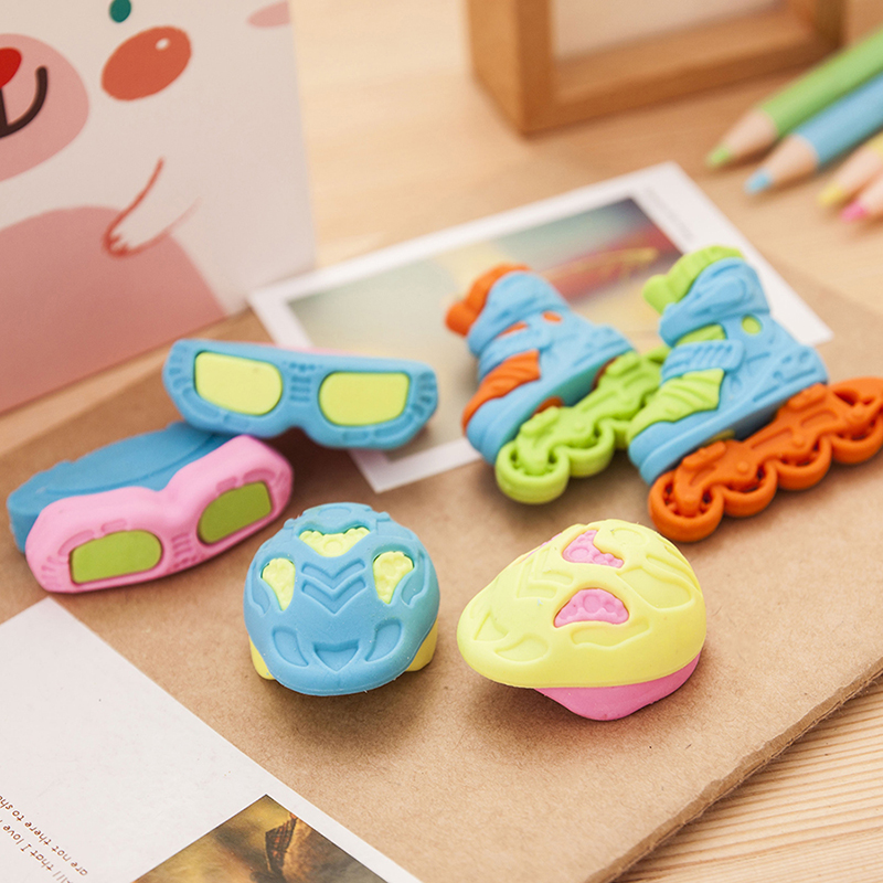 South korea creative stationery wholesale primary prizes reward gift like skin like eraser cute children pulley