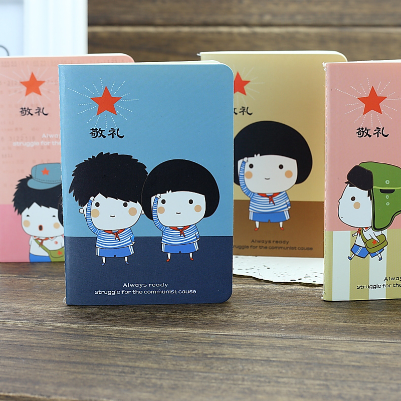 South korea creative stationery wholesale retro fade time diary soft copy notepad notebook child