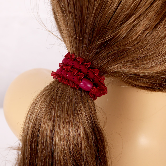 South korea high elastic silk yarn hair ring hair rope tousheng flaxen hair flower head hair accessories korean head ornaments hair circle ponytail rubber band