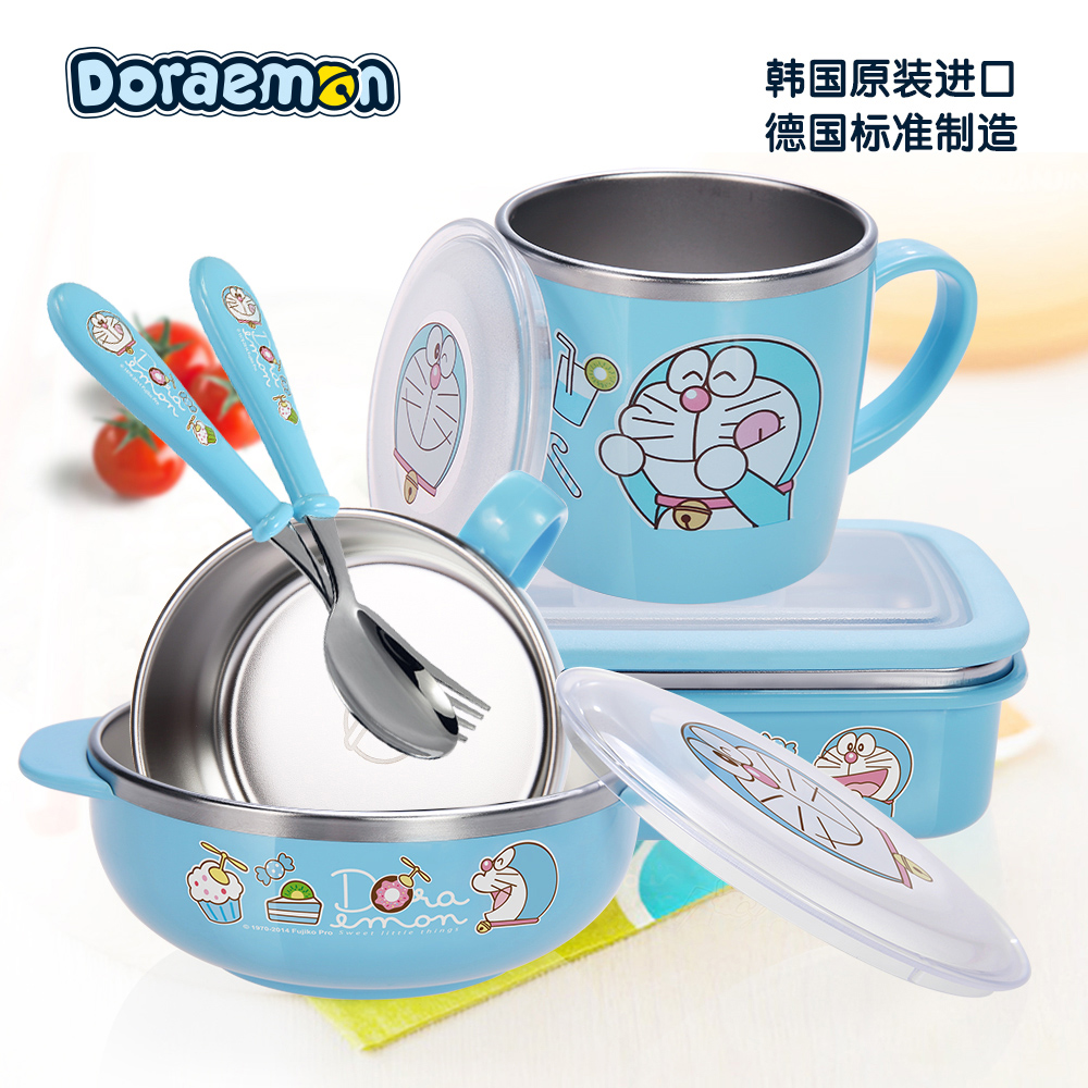 South korea imported a dream children stainless steel bowl baby baby bowl stainless steel tableware cups baby spoon bowl Tableware