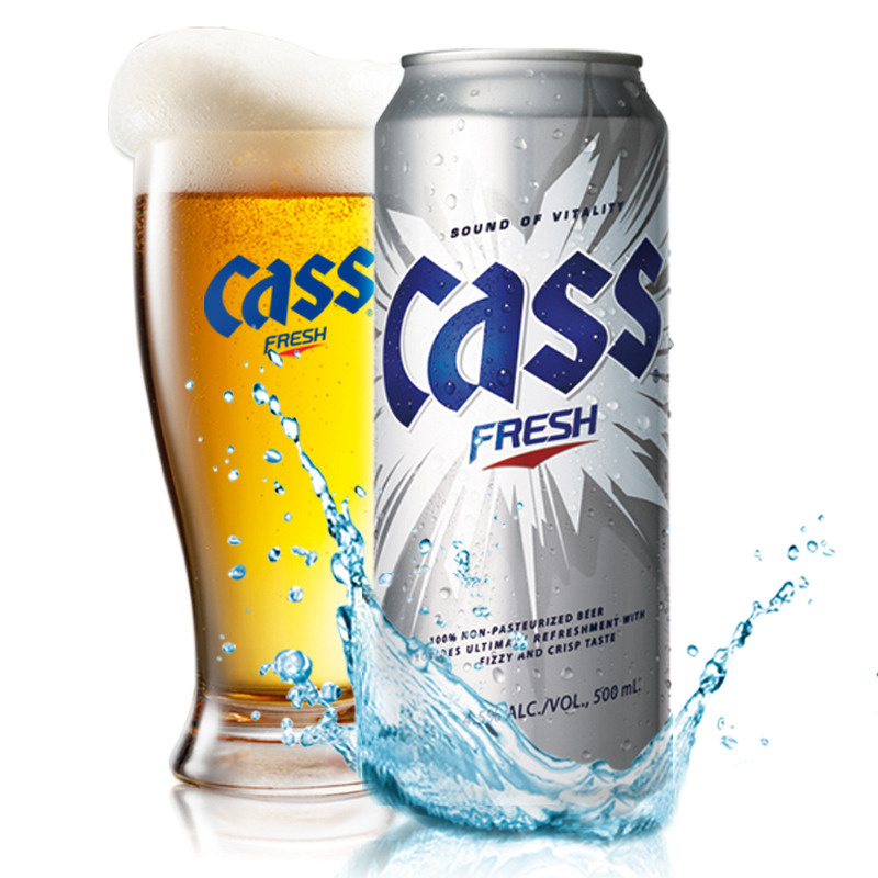 South korea imported beer/cass kelch beer/500 ml