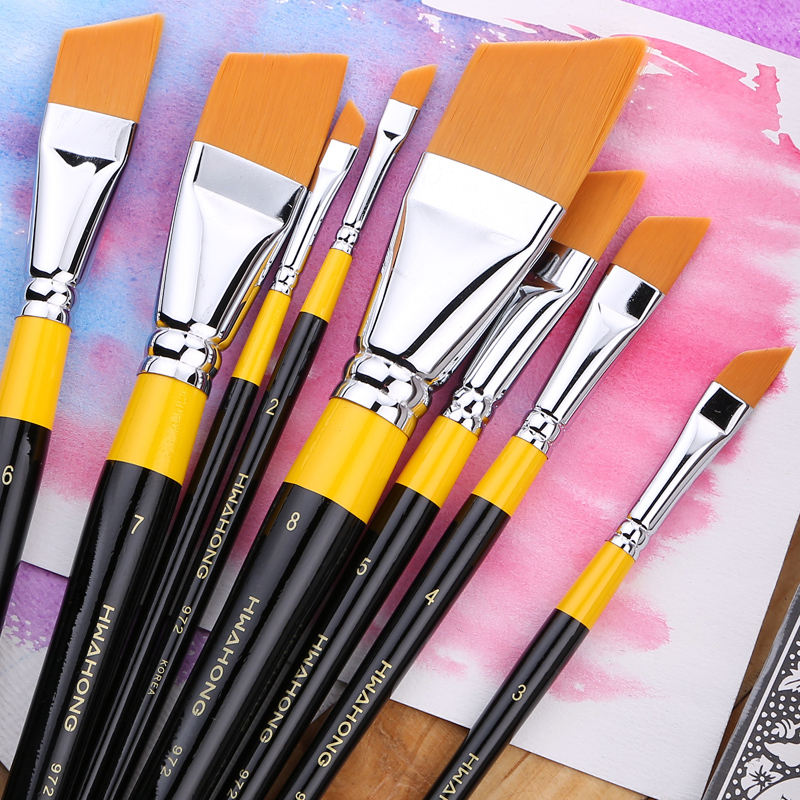 South korea imported hwahong huahong 972 series of oil paints/gouache brush/pattern pen