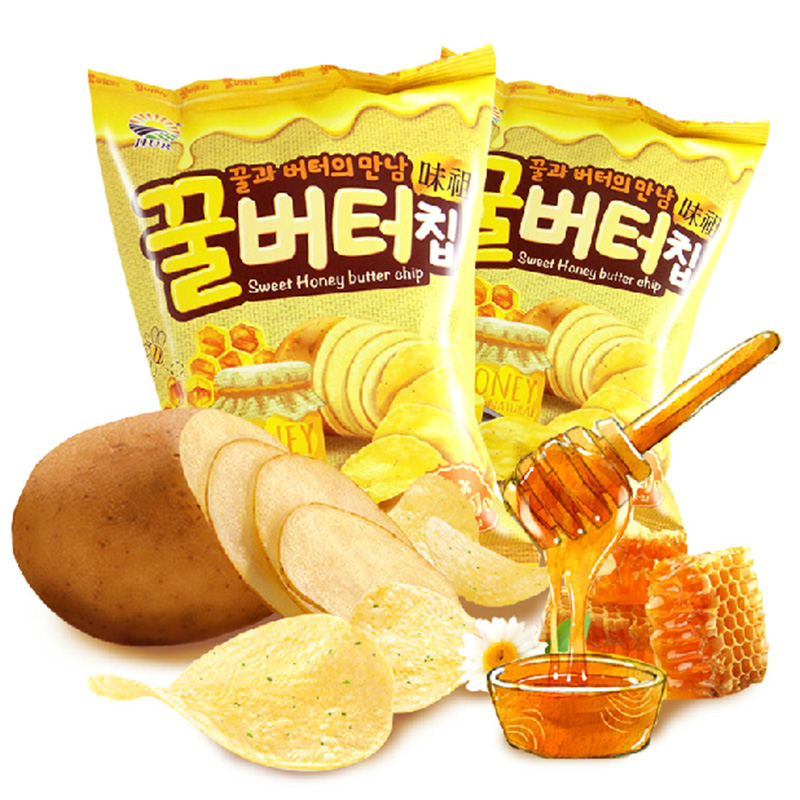 South korea south korea imported puffed zero food honey butter crisps cheese cheese flavor crisps non fried 60g