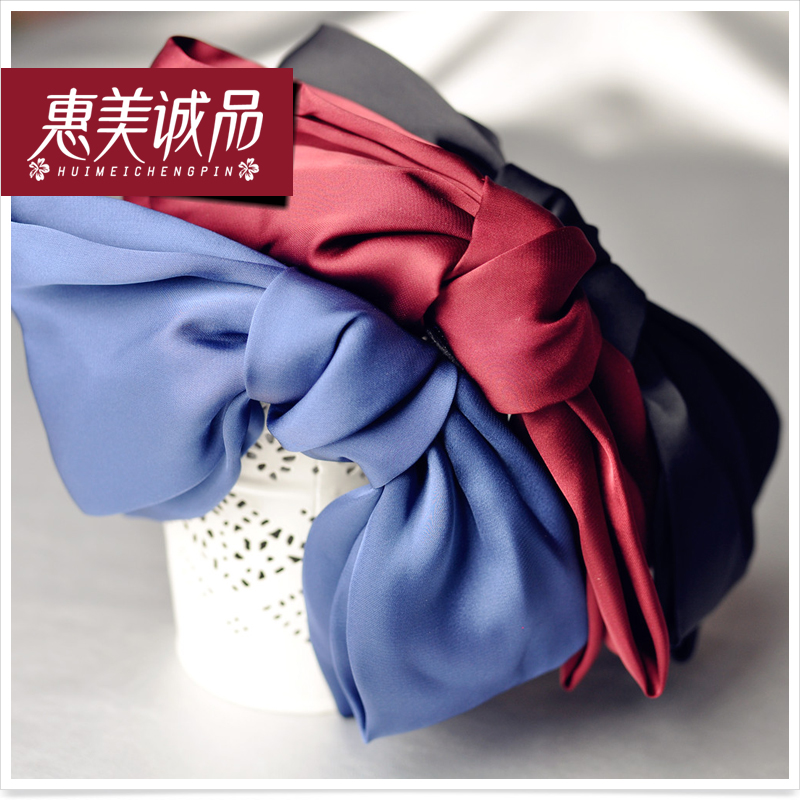South korean fabric bow hair accessories hair bands ribbon simple sweet lady temperament headband korean head ornaments hair card