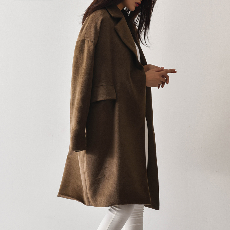 South korean fall and winter clothes coat female 2016 new men's wool coat female coat with money woolen coat long section of loose coat