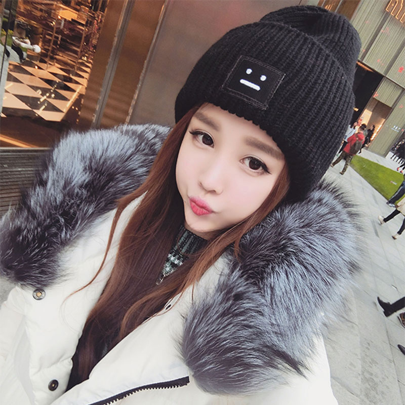 South korean female winter wool hat knitted hat hedging cap hat male fashion wild couple warm tide korean version of the fall