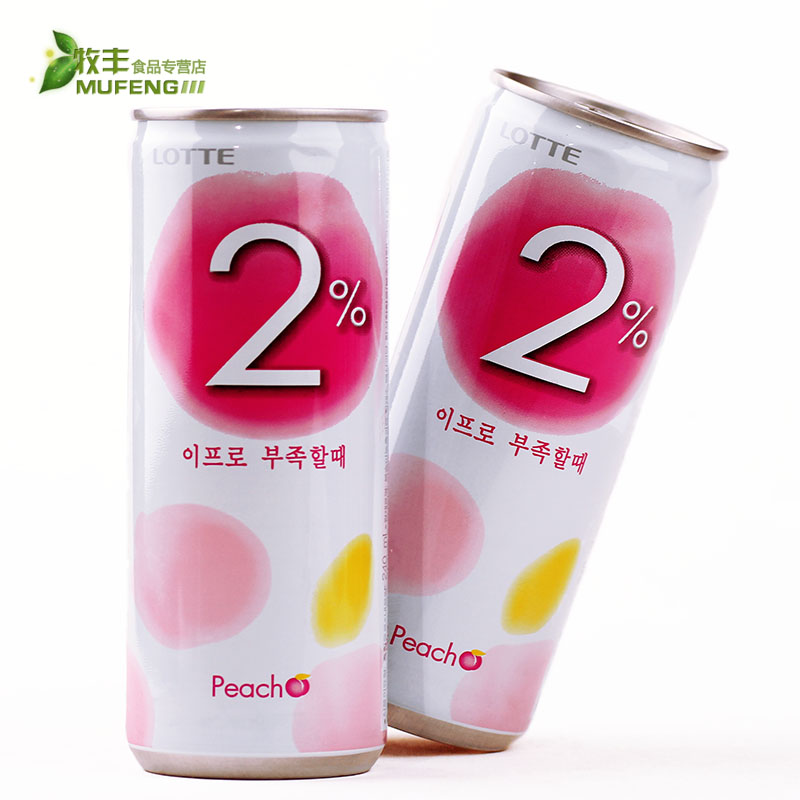 South korean imports of food and beverage lotte lotte 2% peach juice 240 ml peach juice/fruit drinks