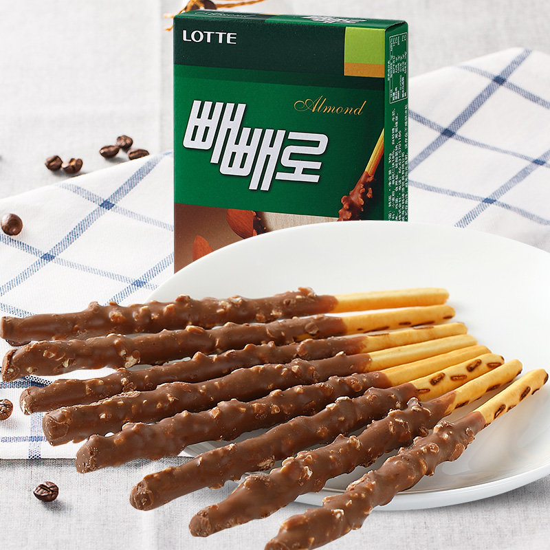 South korean imports of lotte flat peach chocolate bar 32g capsules visible office zero delicious food