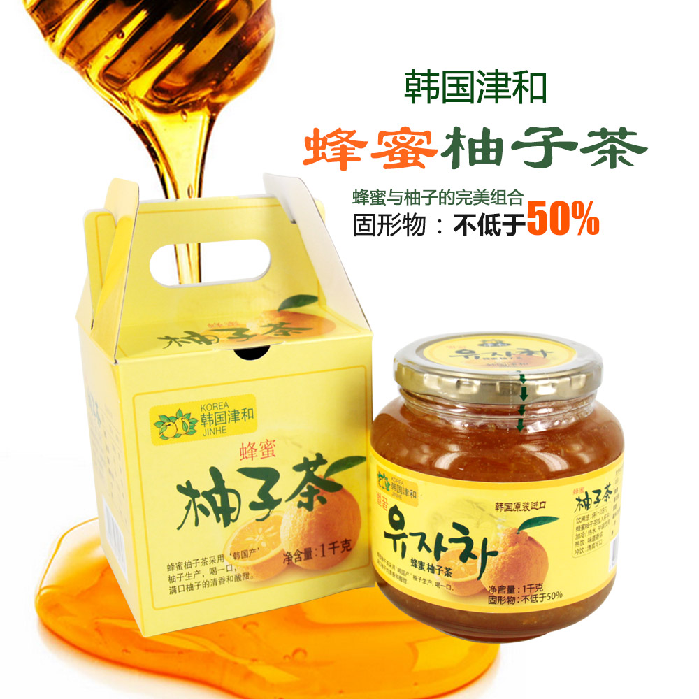 South korean imports of tianjin and honey citron tea 1KG of fresh fruit pulp tea brewed into tea