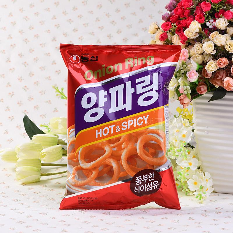 South korean imports of zero food nongshim onion rings 7-grain affordable loaded g dse-25 leisure large package