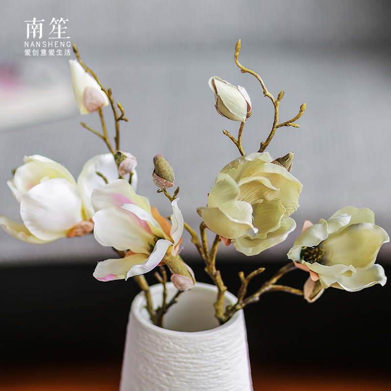 South sheng european home accessories artificial flowers artificial flowers silk flower floral silk flower arrangement ideas shang su magnolia