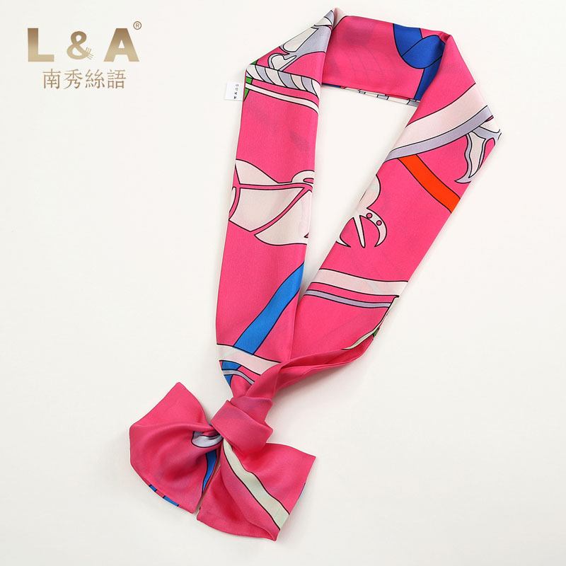 South show silk language 2016 spring and summer new silk small silk scarf 100% silk scarf printed scarf female scarf