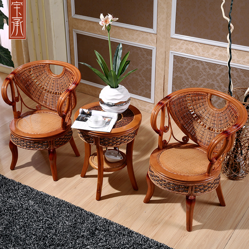 Southeast asia indonesia imported rattan chair rattan sofa single chair princess chair rattan sofa rattan wicker chair wicker chairs coffee table three sets