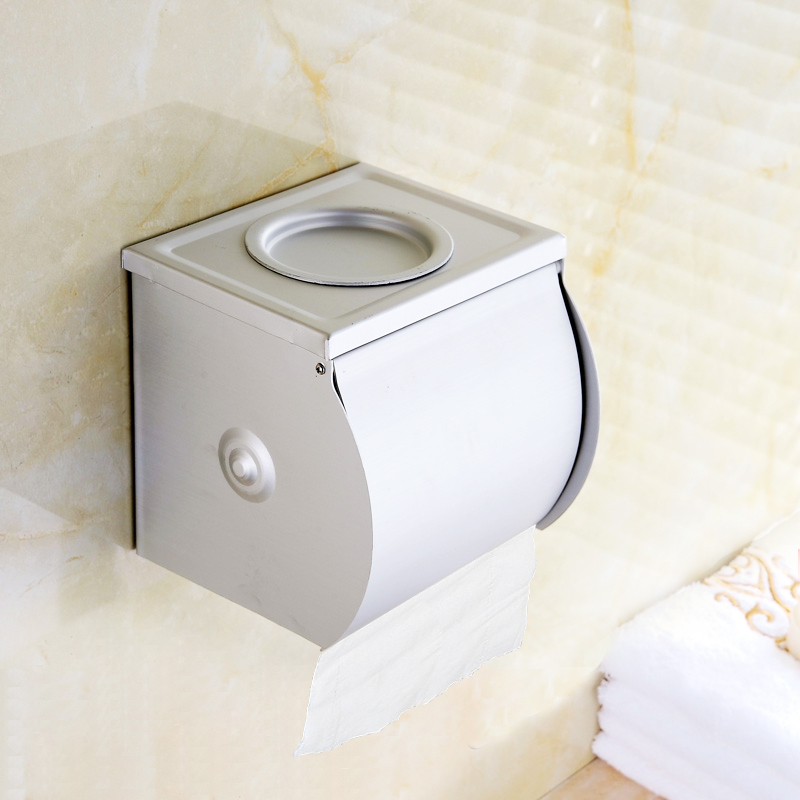 Space aluminum bathroom wastebasket dustbin towel rack roll holder toilet paper towels paper towels toilet paper toilet paper holder toilet paper basket basket