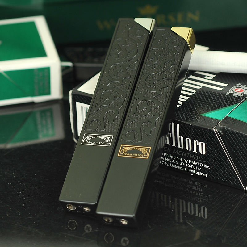 Spear slim refillable lighters creative personality slim men genuine metal can be loaded into the cigarette companion