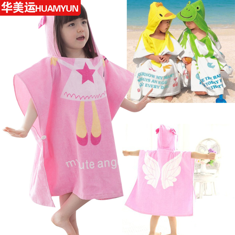 Special boys and girls cartoon printed baby hooded bath towel beach towel bathrobe children's cartoon each of these years