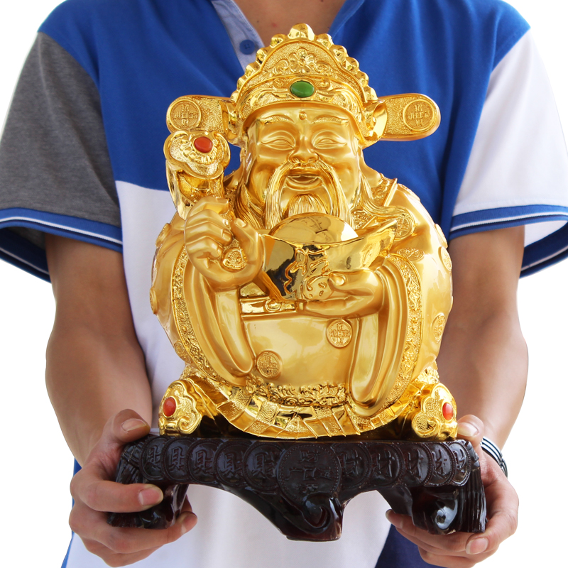 Special fortune buddha ornaments paper treasurer opening gifts home decor feng shui ornaments creative housewarming