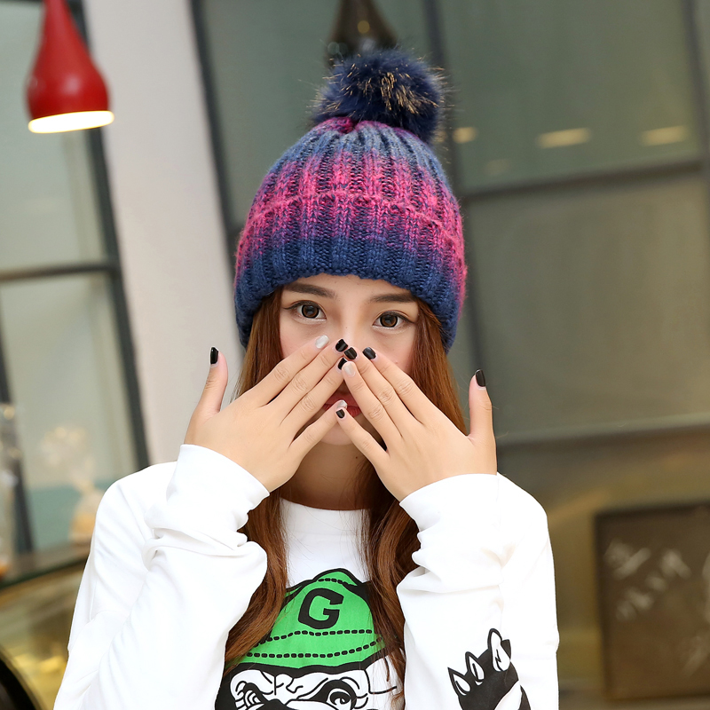 4d71f887f42 Get Quotations · Special ladies knitted wool hat spring and autumn and  winter korean tidal hedging cap baotou cap