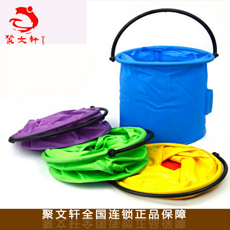 Special large separate bucket compression folding bucket art supplies for children painting separate plastic wash pen barrel