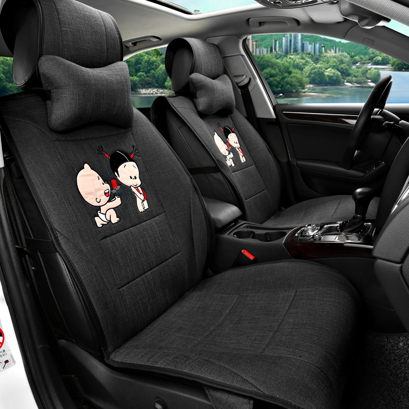 Special seasons cartoon cloth seat peugeot 307/308/408/508/3008/import 4008 seat cushion
