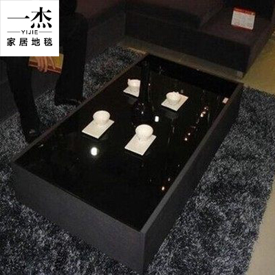 Specials modern minimalist luxury encryption liangsi korean silk carpet living room coffee table carpet bedroom bed