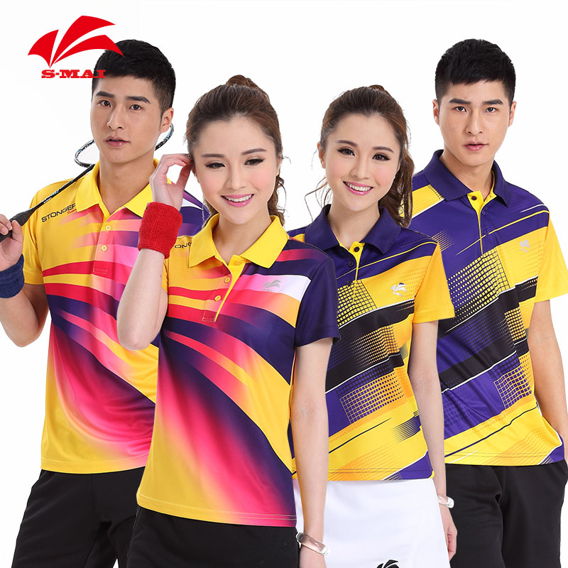 Speed step butiky new badminton clothing for male and female badminton men short sleeve women sportswear breathable wicking jacket