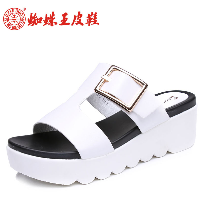 Spider king female sandals 2016 summer new korean fashion shoes toed slippers slope with muffin bottom sandals and slippers