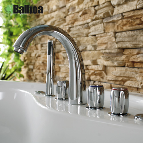 Split bathtub faucet wujiantao five cylinder edge bathtub faucet hot and cold faucet hole 16