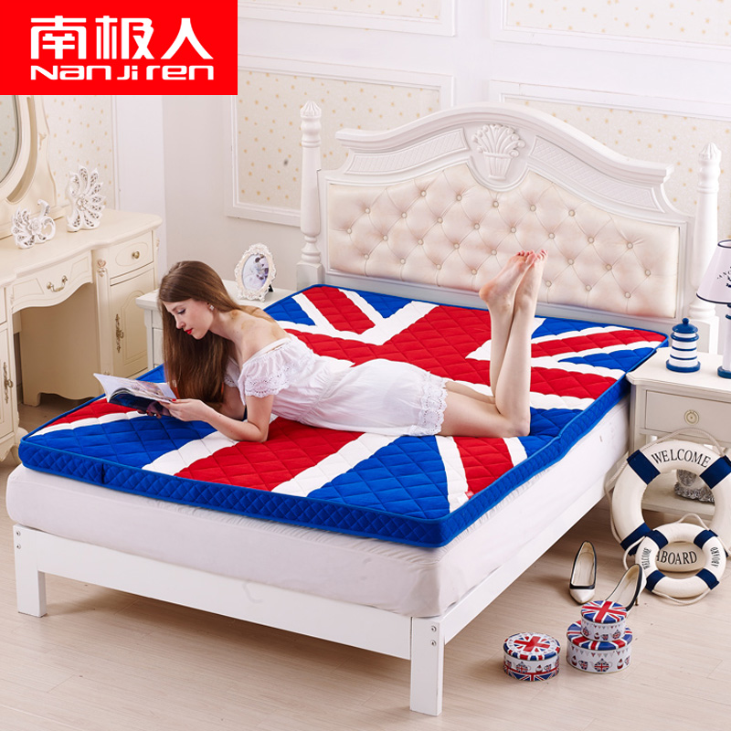 Sponge folding double thick warm tatami mattress mattress son to pave the way to 1. 5m1. 8 m bed mattress