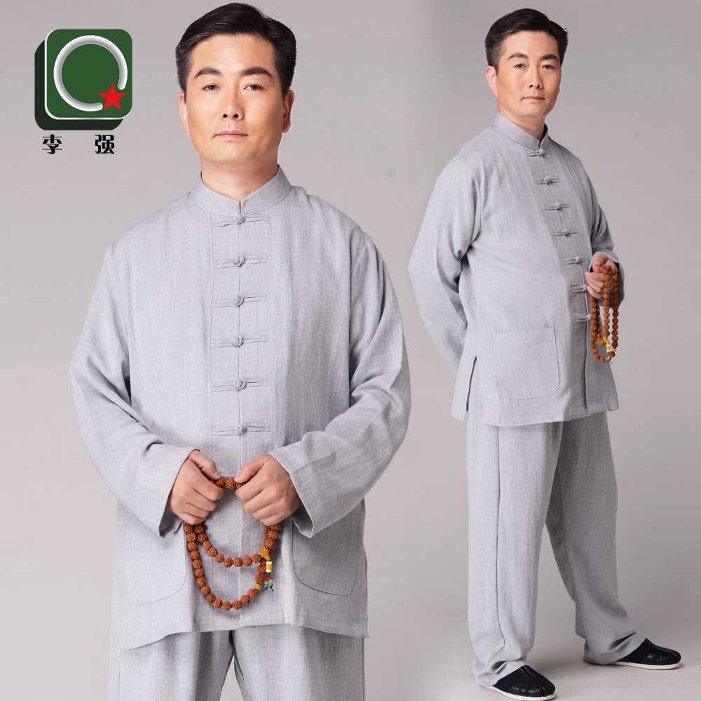 Spring and autumn and winter锦麻tai chi tai chi clothing clothes and tai chi martial arts clothing morning practice performance clothing clothes men middle-aged