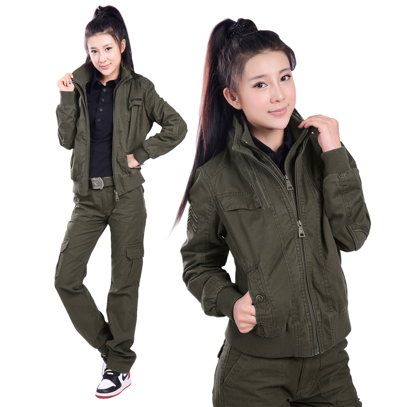 Spring and autumn fashion leisure suits army fans outdoor camouflage clothing for women female models cotton suit jacket wear resistant special forces