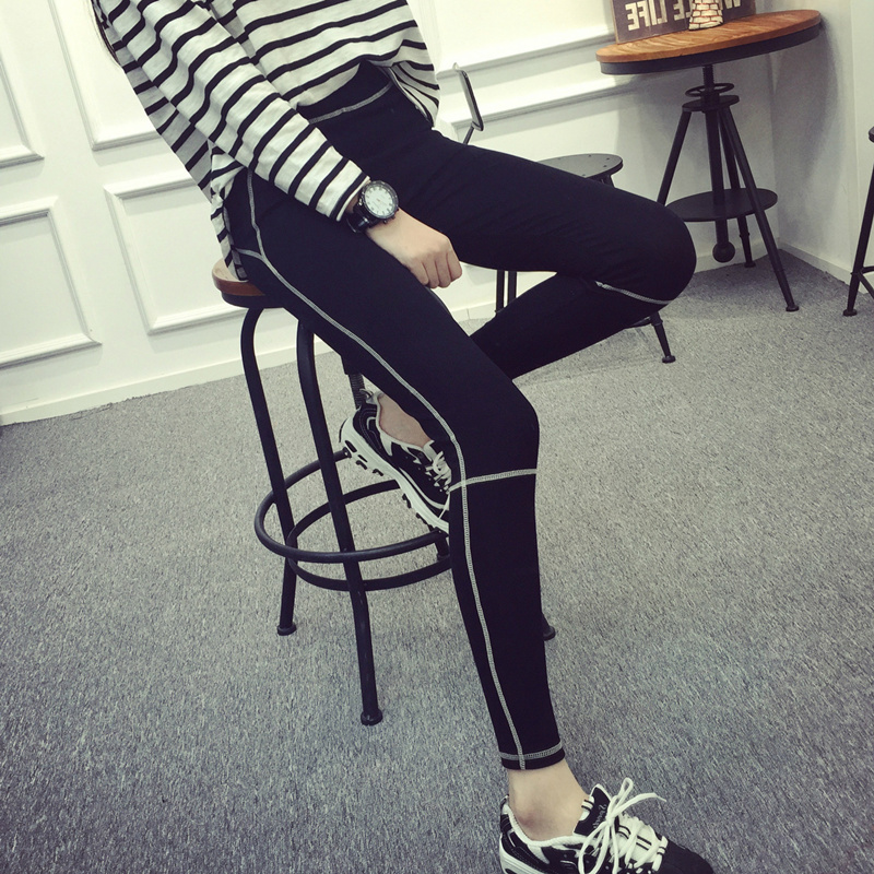 06a08d50691b37 Get Quotations · Spring and autumn new sports running pantyhose korean  version was thin stretch tight leggings ladies outer