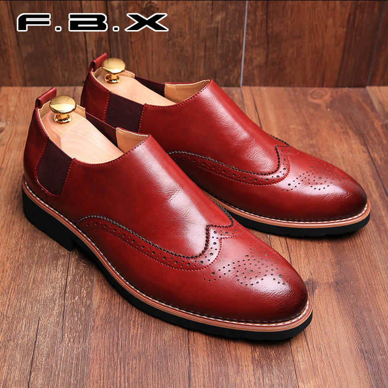 Spring and autumn of england bullock carved men's business as jambaló grams of thick crust fashion casual shoes tide shoes men shoes
