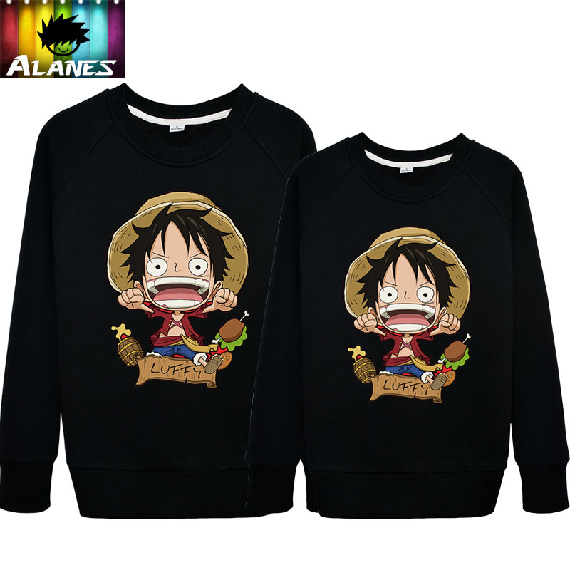 Spring and autumn piece sweater jacket surrounding animation cartoon road fly burger lovers men and women round neck sweater girl