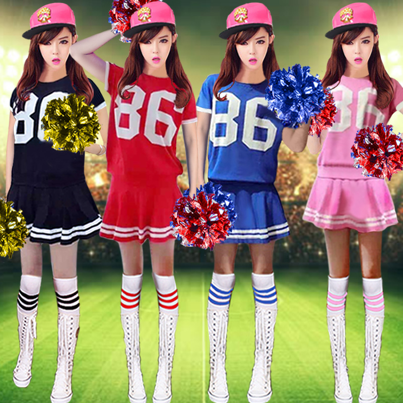 Spring and summer new football baby clothing cheerleading cheerleading performance clothing costumes adult models celebration clothing