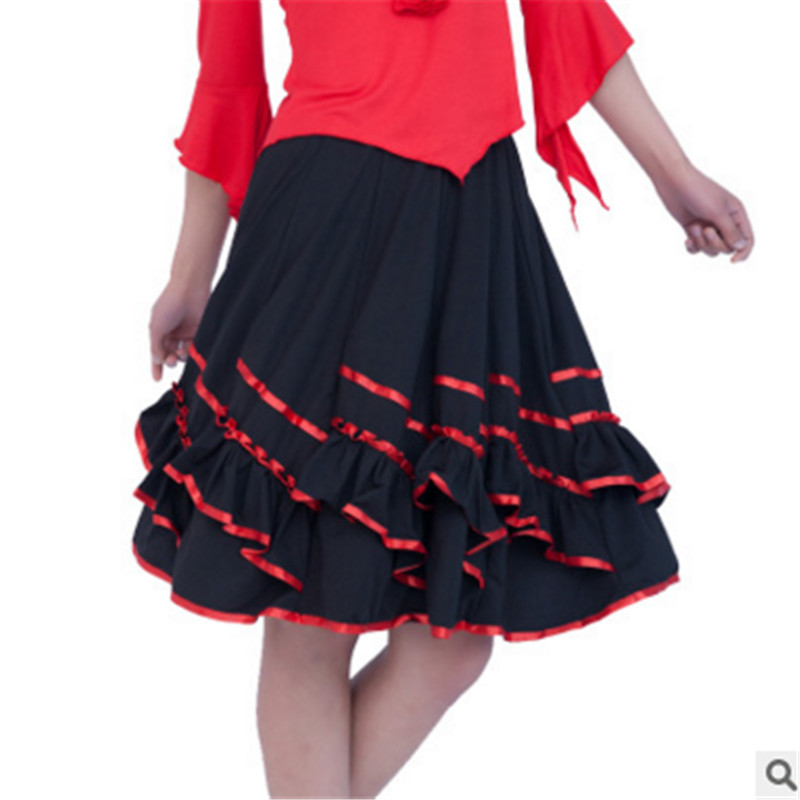 Spring and summer new square dance skirts big skirt skirts square dance clothing new skirt dance performance clothing skirt